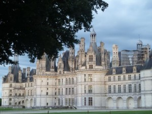 Back view of Chambord from dinner at Le Grand Saint-Michel