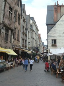 Streets of the old town in Tours